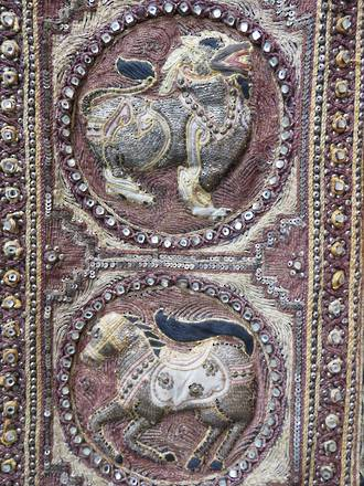 Antique Burmese Kalaga Sequinned Embroidery Panel