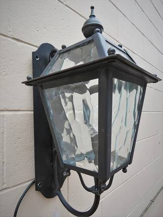 Large Bespoke Wrought Iron outside Light $1350.00
