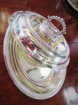 Antique Silver Plated Vegetable Dish