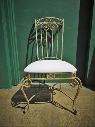French Wrought Iron conservatory Chair $550.00