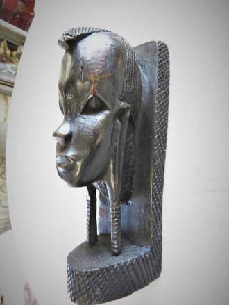 Carved Ebony African Head $175.00