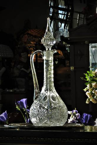 Antique Cut Crystal Decanter