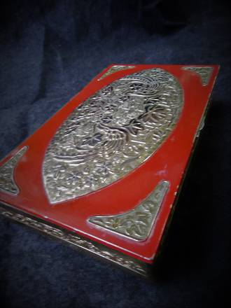 Vintage Silver on Copper Enamelled Jewellery Box $65.00
