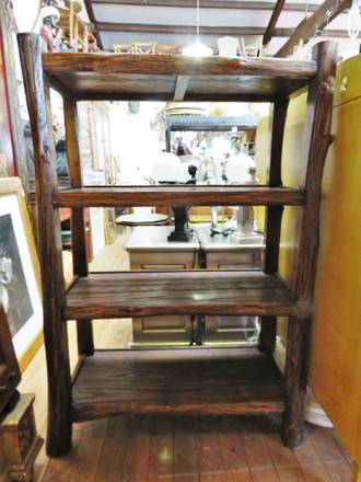 100 year Old Elm Bookcase Shelf or Shoe rack $1650.00