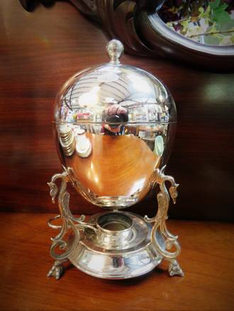 Antique EPNS Egg coddler
