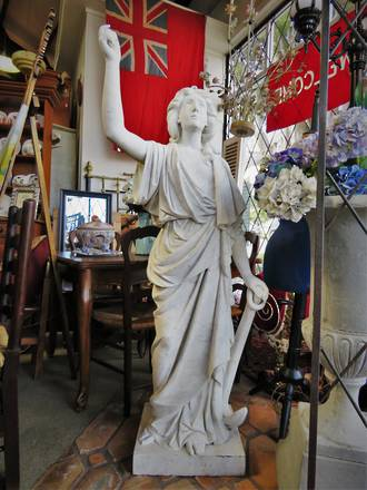Antique Marble Garden Statue Figure $9000.00