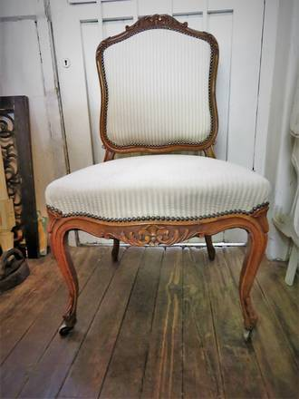 French Antique Walnut Chair $650.00