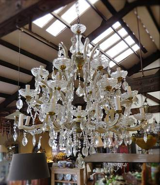 Huge Vintage Crystal Chandelier - 26 Lamps  SOLD