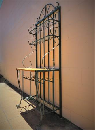 French Style Wrought Iron kitchen Stand with wine rack! $950.00