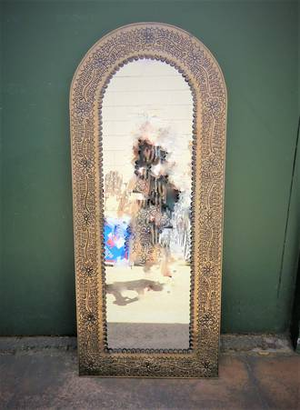 Mexican Style Metal Arched Mirror $299.00
