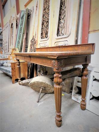 Huge Antique English Mahogany Hall Table Counter or Bench $3250