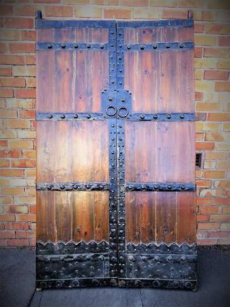 Antique Chinese Elm & Iron Pair of Entrance Way Doors $2750.00