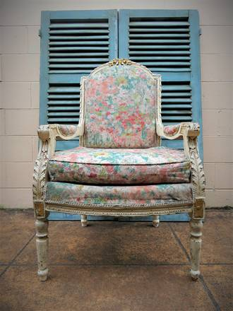 French Provincial Antique Armchairs - Pr Available - $950 each