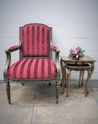 Pair of Antique French Arm Chairs $2300.00 pair