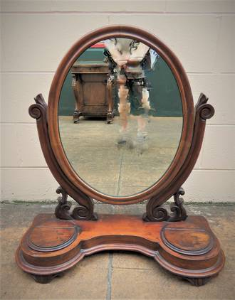 Antique Cheval Dressing Table Mirror $595.00