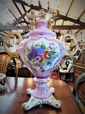 Hand Painted Decorative Lidded Urn SOLD