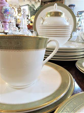 "Royal Doulton ""Belvedere"" Porcelain Dinner Service - 44 pieces $950"