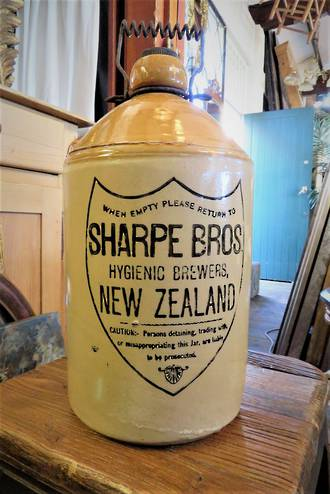 Rare Sharp Bros Crock Demijohn $450