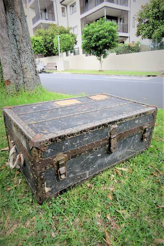 Antique French Travelling Chest or Trunk SOLD