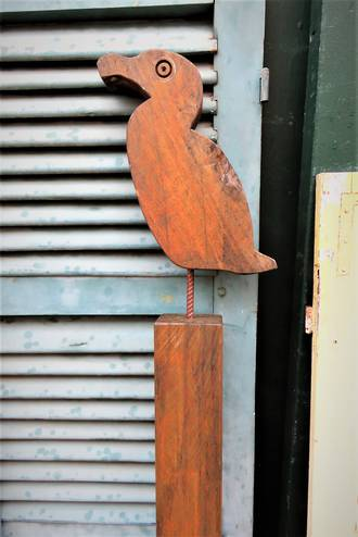 Bird made of Wood For the Garden $175