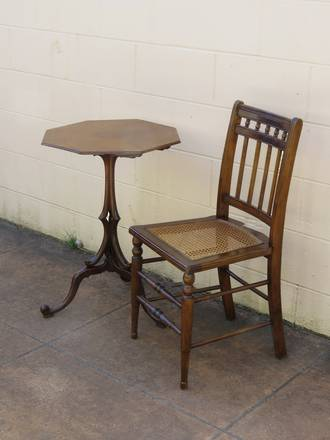 Antique Spindle Back Cane Seat Chair - Once owned by Evelyn Page $265