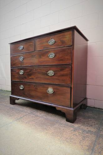 Georgian Mahogany Chest of Drawers with Original Hardware & key!  SOLD
