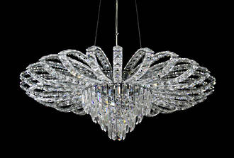 Art Deco Style Crystal Chandelier  $3950 SOLD Special Order