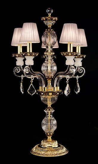 French Crystal Table Chandelier - Currently out of Stock