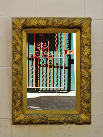 Antique French Gilded Wall Mounted Mirror $995.00