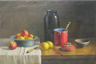 Still Life - Apples & Lemons