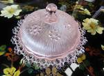 1930's Pink Glass Trinket Box
