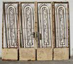 4 x Wrought Iron Art Deco Gates Bi folding