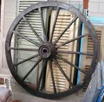 Antique Wooden & Iron Wagon Wheel $950.00