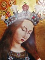 Religious Icon Oil Painting with Gilt High lights  SOLD