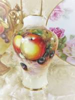 Royal Worcester Hand Painted Vase Signed Apples $245.00