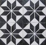 Black and White Star Tile NEW