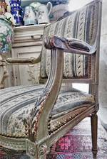 French Provincial Antique Armchairs $1900pr