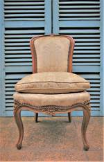 Antique French Brocade & Beech Chair SOLD