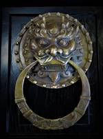 Chinese Imperial Guardian Lion 'Foo Dog' Solid Brass Door Knocker sold