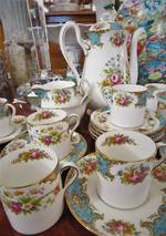 Shelley Porcelain Duchess Demitasse Coffee Set $495