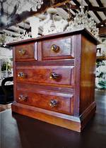 Rare Mottled Kauri Apprentice or Salesman Sample Chest of Drawers SOLD