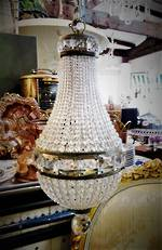 Art Deco Era Czechoslovakian Baby Crystal Basket Chandelier $950