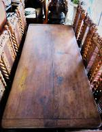 Antique Solid Oak Refectory Table $2250