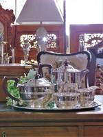 Quality Antique Silverplate Tea Service