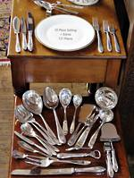 10 Place Cutlery Set Including Many Interesting Implements