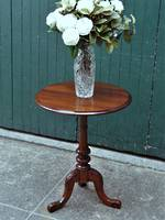 Antique Kauri Wine Table - Carved Pedestal Base SOLD