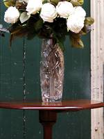 Large Very Heavy Brilliant Cut Crystal Vase