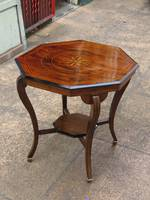 Edwardian Rosewood Parquetry Games Table or Occasional Side Table SOLD