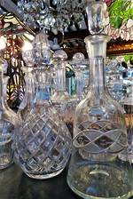 Antique Crystal Decanters  $55 - $225