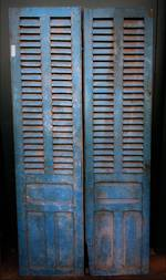 Antique French Shutter Doors $950 pair Aqua